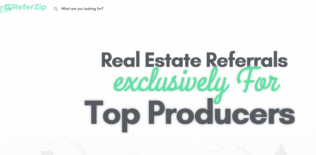 Referzip provides real estate leads for agents with fees plus a referral fee at closing