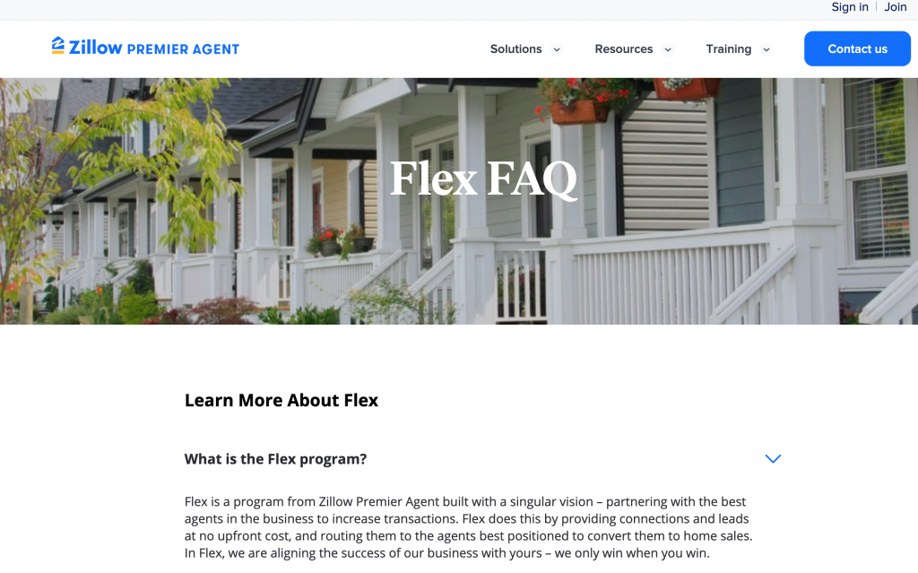 Zillow's Flex program lets agents get real estate leads paid at closing